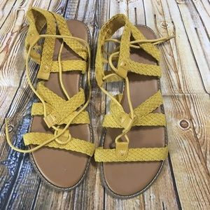 Old Navy Yellow Gladiator Sandals Size 10
